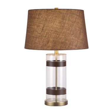 jcpenney.com | Catalina Glass Faux-Leather Table Lamp