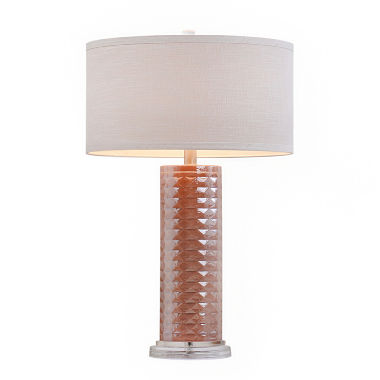 jcpenney.com | Catalina Pink Faceted Glass Table Lamp