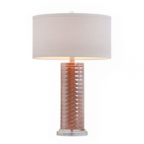 Catalina Pink Faceted Glass Table Lamp