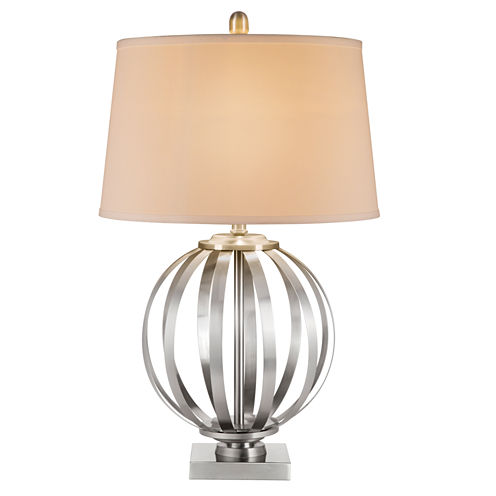Catalina Silver Orb Table Lamp