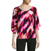 Worthington® Long-Sleeve Cape Top
