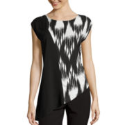 Worthington® Sleeveless Asymmetrical Blouse