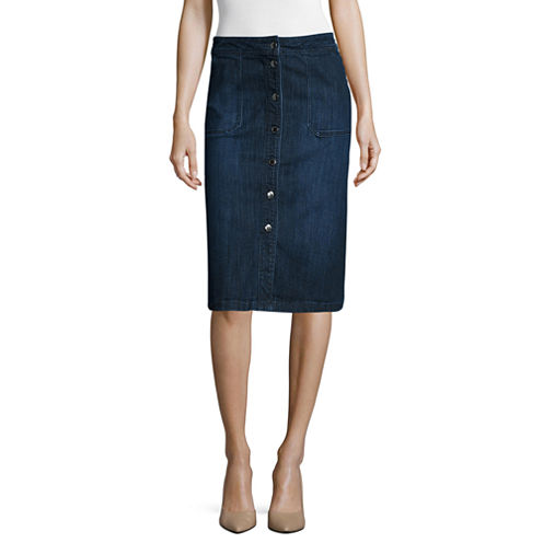 Liz Claiborne® Denim Skirt