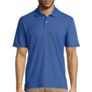 St. John's Bay® Short-Sleeve Quick-Dri Mesh Interlock Polo