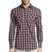 St. John's Bay® Long-Sleeve 2-Pocket Stretch Poplin Sport Shirt