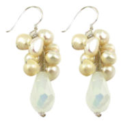 Pannee Cultured Freshwater Pearl Cluster Drop Earrings