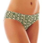 Flirtitude® Ruched Keyhole Microfiber Bikini Panties
