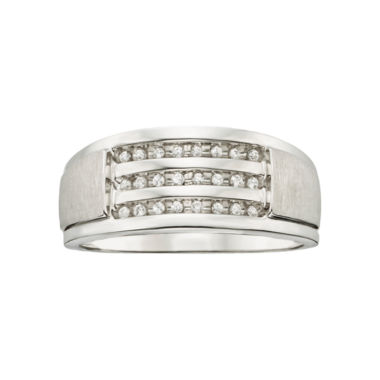 jcpenney.com | 1/8 CT. T.W. Men's Diamond Wedding Band