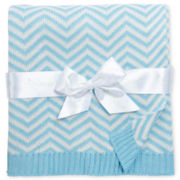 Pickles® Chevron Baby Blanket - Blue