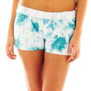 Rubber Doll Performance Tie-Dyed Foldover-Waist Shorts