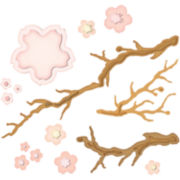 Spellbinders™ Shapeabilities® Die, Cherry Blossoms
