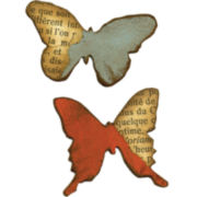 Sizzix® Movers & Shapers Magnetic Dies by Tim Holtz® 2-pk. Butterflies