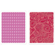 Sizzix® Textured Impressions™ 2-pk. Embossing Folders, Diamond & Tropical Paisley