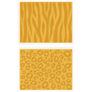 Sizzix® Textured Impressions™ 2-pk. Embossing Folders, Cheetah & Tiger Animal Prints