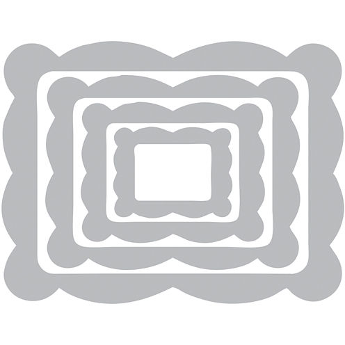 Sizzix® Framelits 4-pc. Die Set – Scallop Frame Rectangle