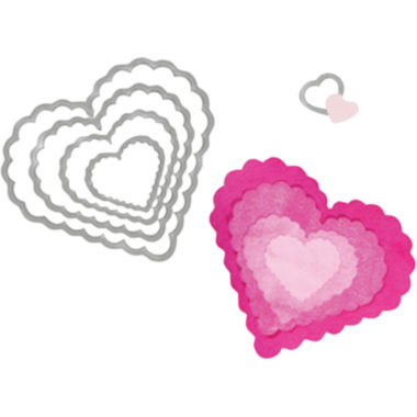 jcpenney.com | Sizzix® Framelits™ Dies, 5-pk. Scallop Hearts