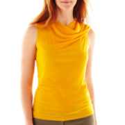 Worthington® Mesh Cowlneck Top