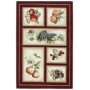 Fresh Fruit Washable Rectangular Accent Rugs