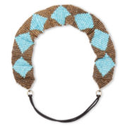 Arizona Blue Diamond Pattern Head Wrap