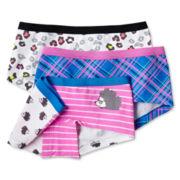 Maidenform 3-pk. Fashion Print Boyshorts - Girls 4-16