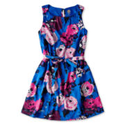 Total Girl® Sleeveless Ruched-Neck Dress - Girls 6-16 and Plus