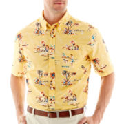 St. John's Bay® Short-Sleeve Printed Tropical Shirt