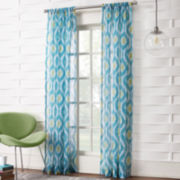 Maren Ikat Rod-Pocket Sheer Panel