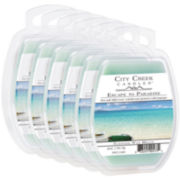 City Creek Candles™ Set of 6 Wax Melts – Escape To Paradise