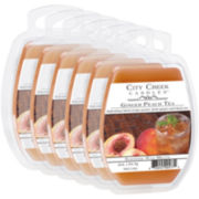 City Creek Candles™ Set of 6 Wax Melts – Ginger Peach Tea