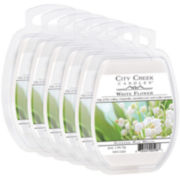 City Creek Candles™ Set of 6 Wax Melts - White Flower