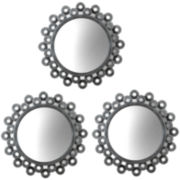 Set of 3 Double-Cog Round Wall Mirrors