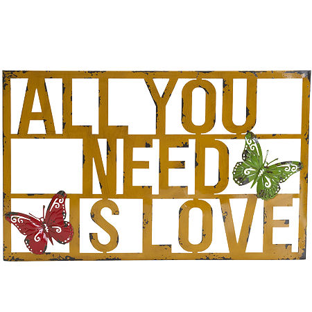 All You Need is Love Metal Wall Decor