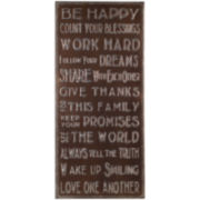 Be Happy Wall Decor