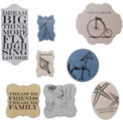 Set of 8 Shores Wall Decor