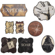 Set of 8 Travel and Adventure Wall Decor