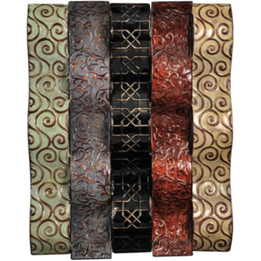 jcpenney.com | Embossed Wavy Metal Wall Decor - Multicolor