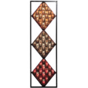 Embossed Diamond Metal Wall Decor