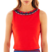 Bisou Bisou® Sleeveless Crop Top