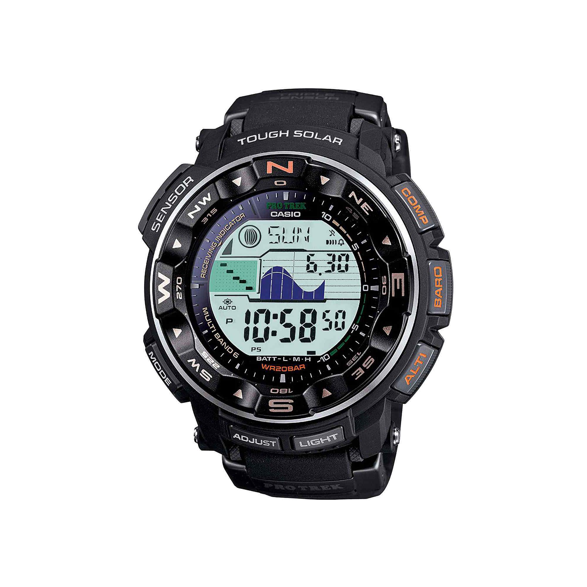 Casio Pro Trek Mens Triple Sensor Multifunction Hiking Watch PRW2500-1