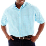 IZOD® Short-Sleeve Plaid Woven Shirt – Big & Tall