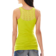Arizona Lace-Back Ribbed Tank Top