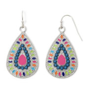 Arizona Textured Multicolor Teardrop Earrings