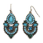 Arizona Blue Stone Double-Drop Earrings