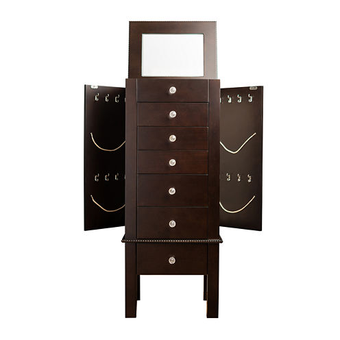 Hives and Honey Hannah Espresso Jewelry Armoire