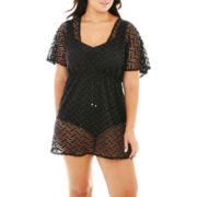 Porto Cruz® Surplice Dress Cover-Up - Plus