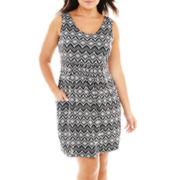 Porto Cruz® Diamond Print Dress Cover-Up - Plus