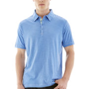 Michael Brandon® Short-Sleeve Slub Polo