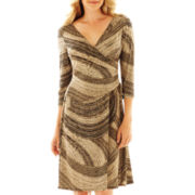 9 & Co.® 3/4-Sleeve Tie-Waist Dress