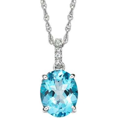 jcpenney.com | Blue Topaz & Lab-Created White Sapphire Pendant Necklace