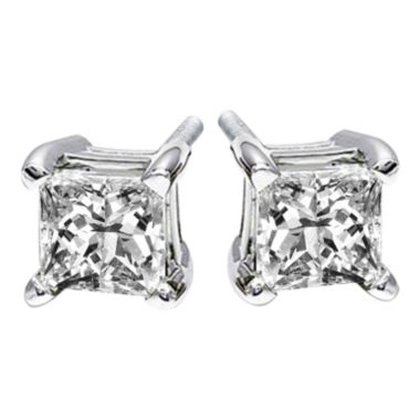 jcpenney.com | 1/4 CT. T.W. Princess-Cut Diamond Stud Earrings